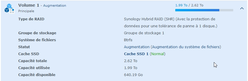 Syno Augmentation raid 10 - Synology - Augmenter l'espace de stockage RAID