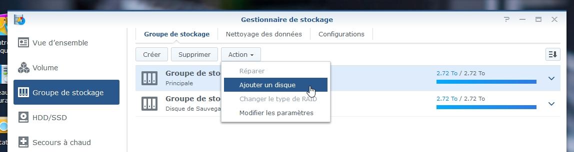 Syno Augmentation raid 2 - Synology - Augmenter l'espace de stockage RAID