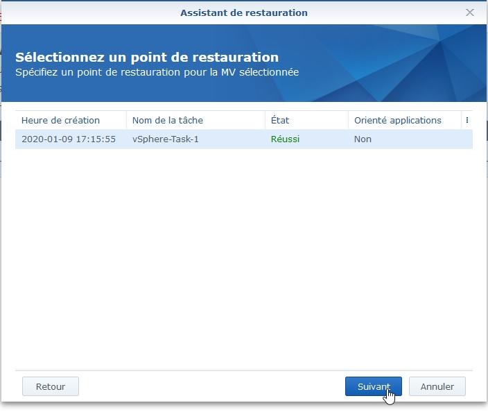 Syno Active backup resto vm 2 - [Tuto] Synology Active Backup – Sauvegarder intégralement votre PC, Serveur, VM (Partie 2 Restauration)