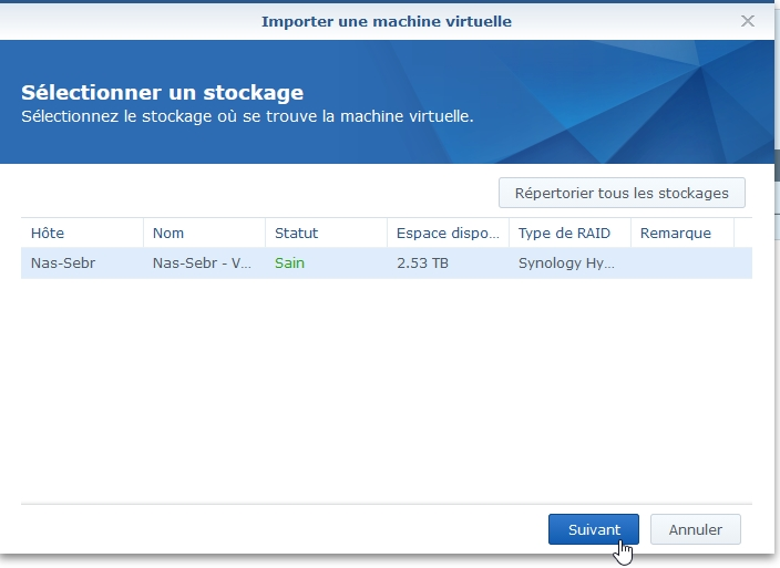 Syno Active backup resto vm 3 - [Tuto] Synology Active Backup – Sauvegarder intégralement votre PC, Serveur, VM (Partie 2 Restauration)