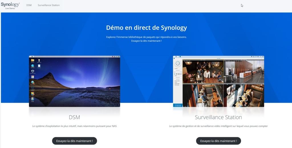 Syno demo 1 - Avant d'acheter un NAS Synology, faites un test