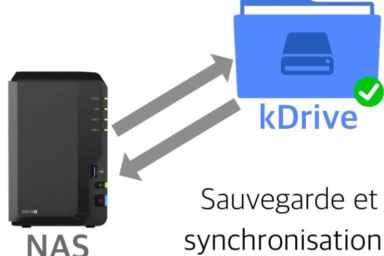 Synology kDrive 770x513 - Sauvegarder et synchroniser son NAS Synology avec kDrive