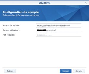 Synology CloudSync kDrive 300x250 - Sauvegarder et synchroniser son NAS Synology avec kDrive