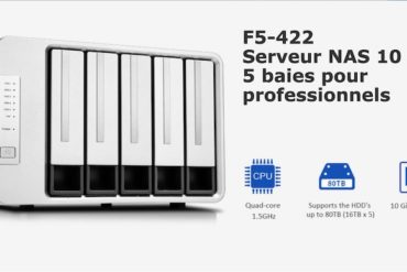 TerraMaster F5 422 370x247 - TerraMaster annonce le F5-422, un NAS 5 baies 10 Gbit/s
