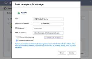 authentification webdave qnap 300x192 - Sauvegarder et synchroniser son NAS QNAP avec kDrive