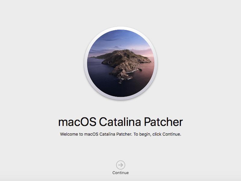 catalina patcher - Nouveau macOS sur un vieux Mac