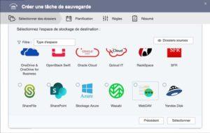 choix webdav 300x191 - Sauvegarder et synchroniser son NAS QNAP avec kDrive