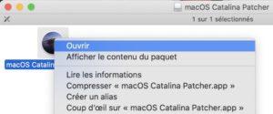 clic droit 300x125 - Nouveau macOS sur un vieux Mac