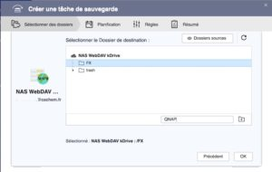 destination kDrive WebDAC 300x190 - Sauvegarder et synchroniser son NAS QNAP avec kDrive