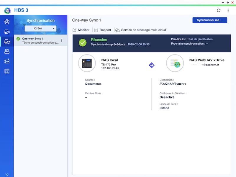 finalisation - Sauvegarder et synchroniser son NAS QNAP avec kDrive
