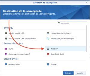 hyberbackup webdav 300x255 - Sauvegarder et synchroniser son NAS Synology avec kDrive
