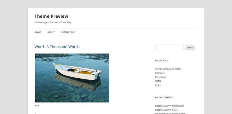 WordPress Twenty Twelve - Hébergement, mail, mesure d'audience, serveur...