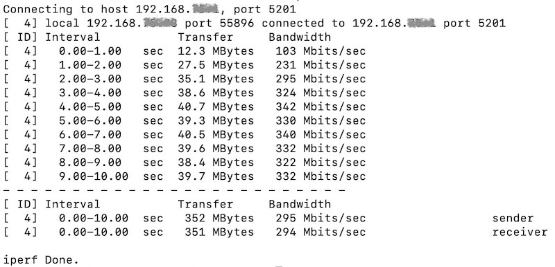 test iperf wifi - iPerf et routeur Synology