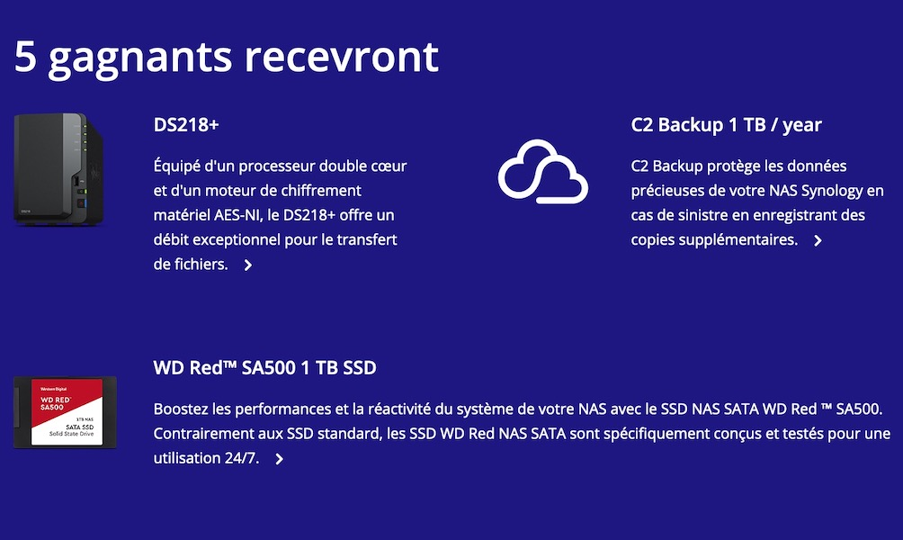 5 NAS - Synology lance un concours...