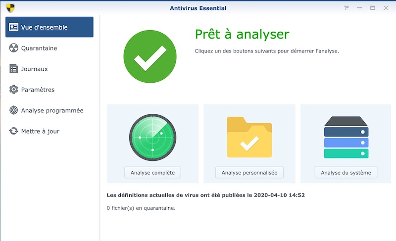 Antivirus Essential - NAS – Ma configuration logicielle Synology DS918+ (partie 2)