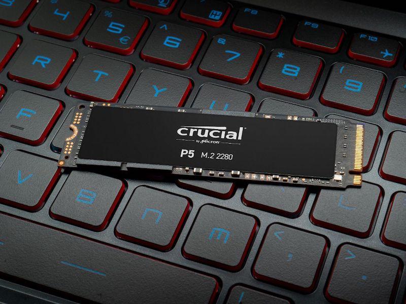 Crucial P5 - Crucial annonce l'arrivée prochaine du SSD NVMe P5