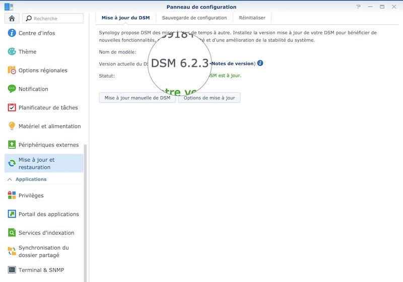 DSM 623 DS918 - NAS - Synology DSM 6.2.3 est disponible