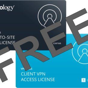 VPN FREE Synology 293x293 - Synology offre des licences VPN Plus et Site-to-Site VPN