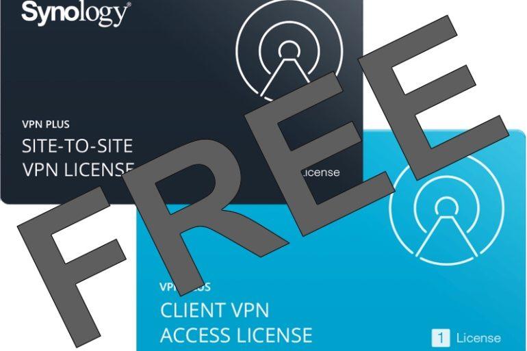 VPN FREE Synology 770x513 - Synology offre des licences VPN Plus et Site-to-Site VPN