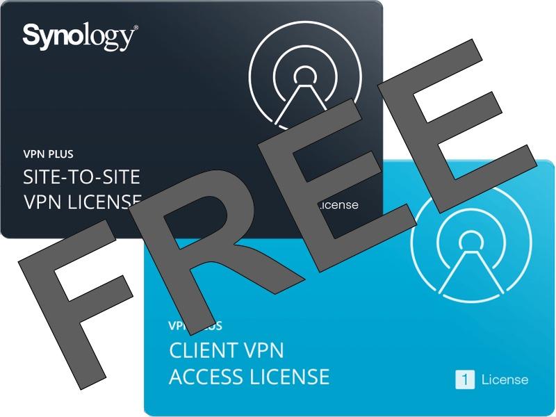 VPN FREE Synology - Synology offre des licences VPN Plus et Site-to-Site VPN