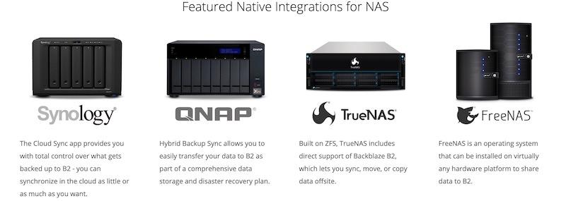 backblaze NAS - Backblaze et NAS Synology / QNAP...