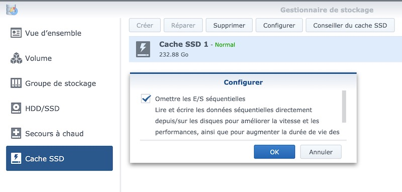 cache ssd synology - NAS – Ma configuration logicielle Synology DS918+ (partie 2)