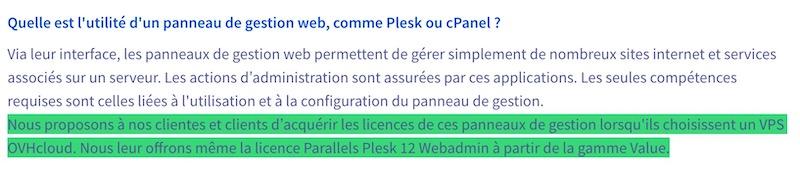 licence Plesk offerte - OVHcloud revoit (encore) sa gamme de VPS et les changements sont nombreux