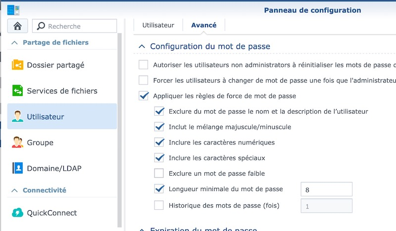 mot passe synology - NAS – Ma configuration logicielle Synology DS918+ (partie 2)
