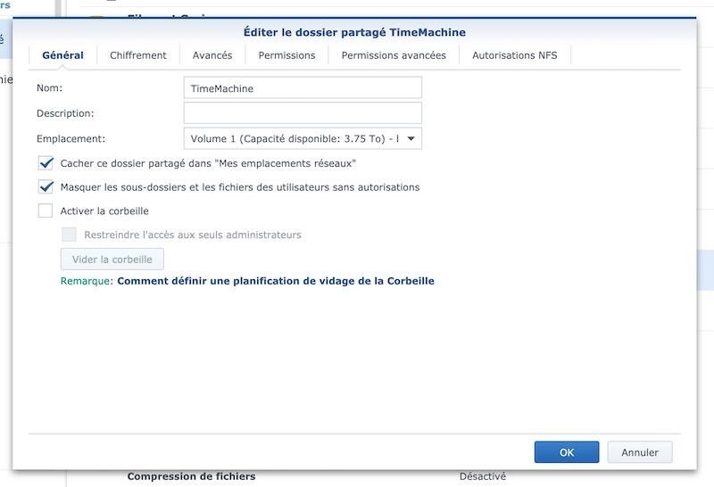 parametres dossiers partages - NAS – Ma configuration logicielle Synology DS918+ (partie 2)