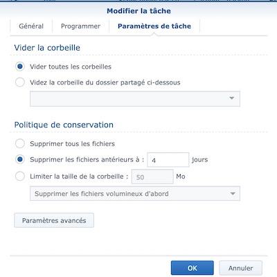 vider corbeilles - NAS – Ma configuration logicielle Synology DS918+ (partie 2)