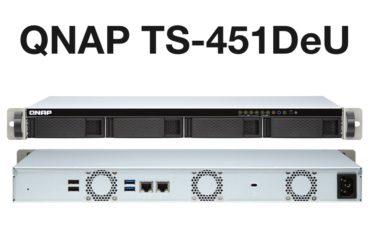 QNAP TS 451DeU 370x247 - NAS - QNAP TS-451DeU un rack 4 baies avec du 2,5 Gbit/s