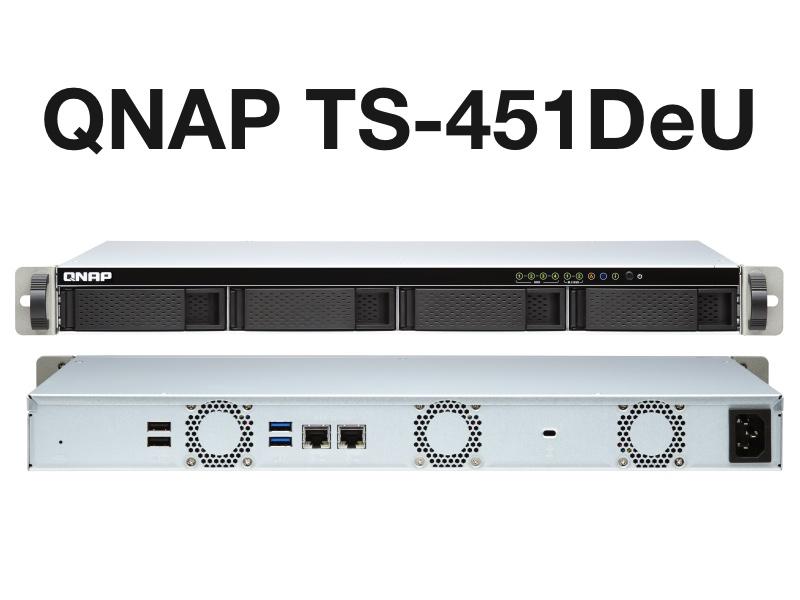 QNAP TS 451DeU - NAS - QNAP TS-451DeU un rack 4 baies avec du 2,5 Gbit/s