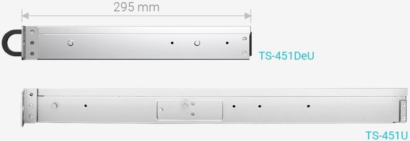 TS 451DeU VS TS 451U - NAS - QNAP TS-451DeU un rack 4 baies avec du 2,5 Gbit/s