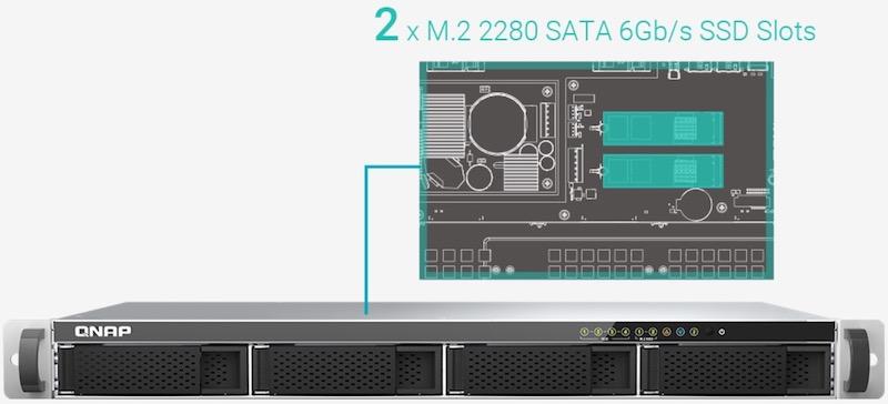 interieur TS 451DeU - NAS - QNAP TS-451DeU un rack 4 baies avec du 2,5 Gbit/s