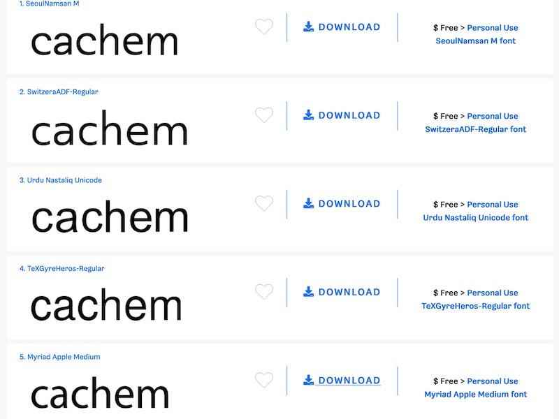 similar free fonts - Retrouver une police de caractère et une alternative