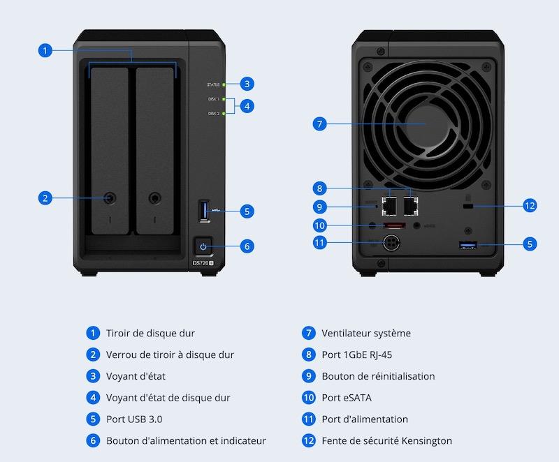 DS720plus - NAS - Le Synology DS720+ est disponible
