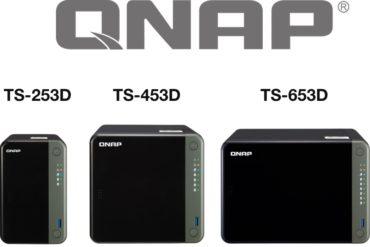 QNAP TS X53D 370x247 - NAS - QNAP TS-253D, TS-453D et TS-653D : J4125, HDMI 4K, 2,5 Gbit/s, PCIe...