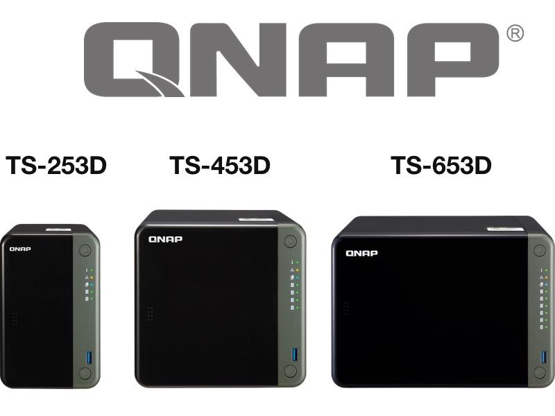 QNAP TS X53D - NAS - QNAP TS-253D, TS-453D et TS-653D : J4125, HDMI 4K, 2,5 Gbit/s, PCIe...