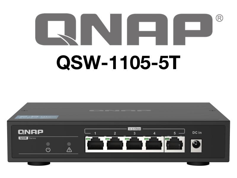 QNAP QSW 1105 5T - QNAP QSW-1105-5T - Switch 5 ports à 2,5 Gbit/s