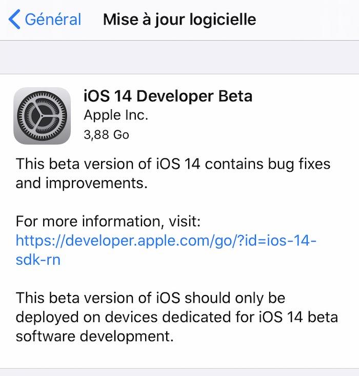 etape 6 - Installer iOS 14 bêta... sans compte développeur et gratuitement
