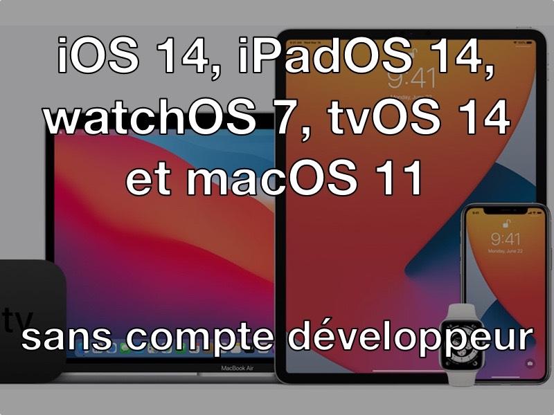 ios14 beta - Installer iOS 14 bêta... sans compte développeur et gratuitement