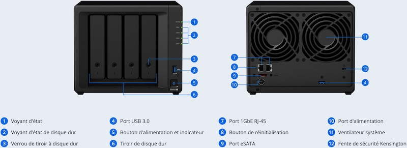 ds920 front back - NAS - Le Synology DS920+ est disponible à 580€