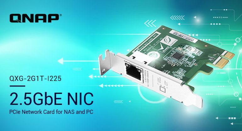 QNAP QXG 2G1T I225 770x418 - QNAP annonce 3 cartes réseau 2,5 GbE pour NAS et PC... à partir de 70€