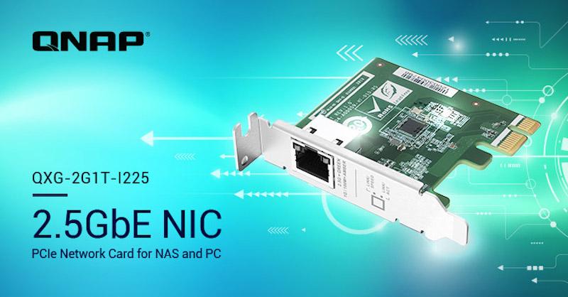 QNAP QXG 2G1T I225 - QNAP annonce 3 cartes réseau 2,5 GbE pour NAS et PC... à partir de 70€