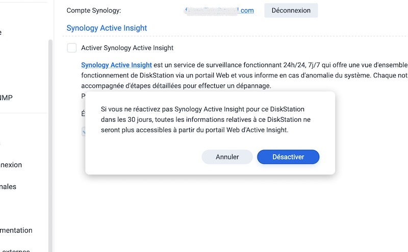 activer insight - Synology DSM 7.0 : aperçu de l'interface et des nouvelles fonctionnalités