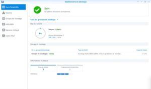 gestionnaire stockage 6 300x178 - Synology DSM 7.0 : aperçu de l'interface et des nouvelles fonctionnalités