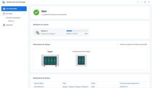 gestionnaire stockage 7 300x174 - Synology DSM 7.0 : aperçu de l'interface et des nouvelles fonctionnalités