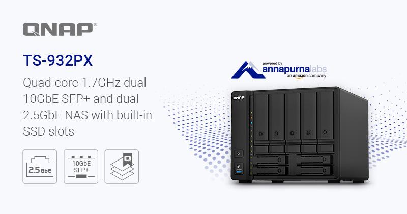 ts 932px - NAS - QNAP annonce l'arrivée du TS-932PX (2,5 et 10 Gbit/s)