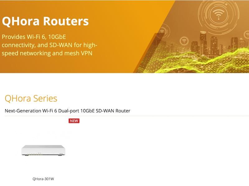 QHora routeurs - QHora-301W, le premier routeur de QNAP : Wi-Fi 6, 10 Gbit/s, SD-WAN...