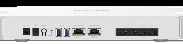 QNAP QHora 301W arriere - QHora-301W, le premier routeur de QNAP : Wi-Fi 6, 10 Gbit/s, SD-WAN...